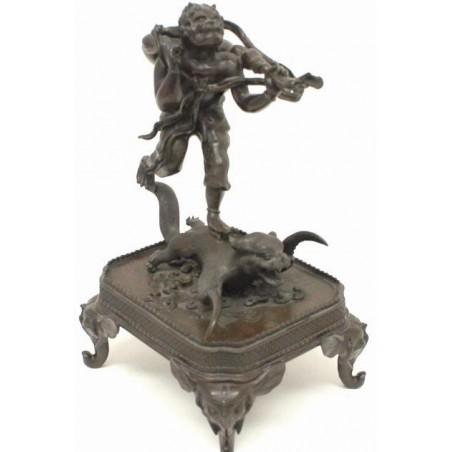 Japanese Mythological Bronze Statue  (CUR221)