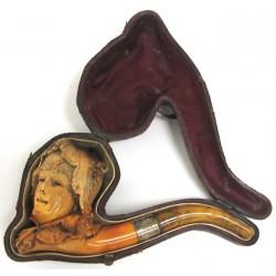 Fine Carved Meerschaum Pipe...