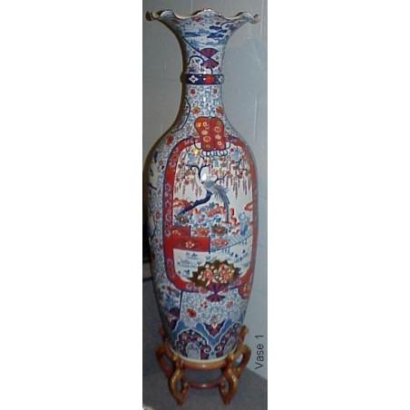Beautiful Pair of Japanese Vases.  (Megavase)