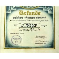 Nazi Sports Award 1941...