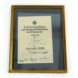 Iron Cross 2nd Class Award...