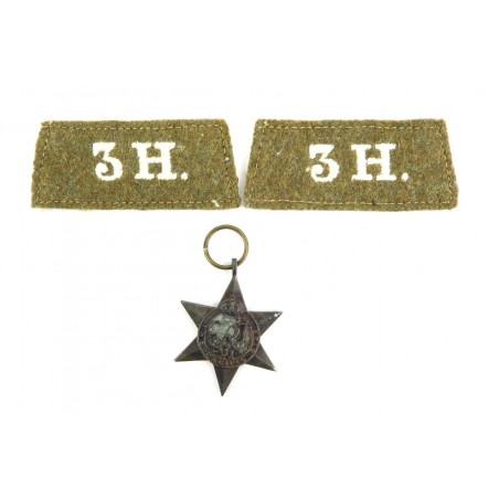 British WWII Star Medal and WWI Slip on Shoulder Devices (MM1064)