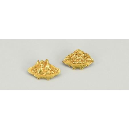 Pair of gold Menuki (MGJ356)