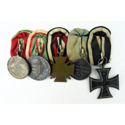German WWI Five Medal...