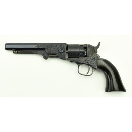 Factory Engraved Colt 1862 Pocket Navy Revolver With Checkered Rammer (C12627)