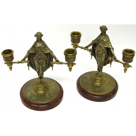 French 1st Empire Candle Holders (CUR260)