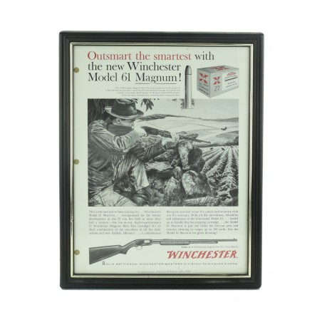 Winchester Ad for a Model 61 Magnum from the July 1960 American Rifleman