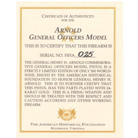 American Historical Foundation General Hap Arnold Commemorative (COM2199)