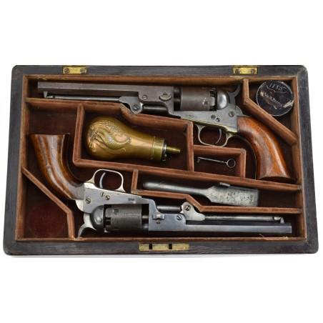 Very Fine Double Cased Set of Colt 1849 Pocket Revolvers (C13540)