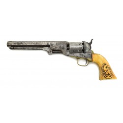 Colt 1851 Navy with Carved...