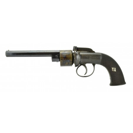 English Transitional Percussion  Six-Shot Revolver with Case and Accessories (AH5642)