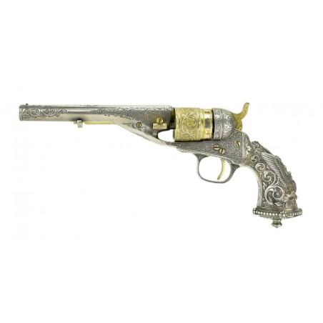 New York Engraved Tiffany Gripped Colt 1862 Pocket Navy Conversion (C14633)