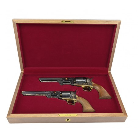 Cased Factory Engraved Colt 1851 Navy and Dragoon (C16504)
