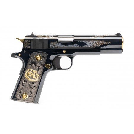 Colt Silver & Gold Engraved Special Edition .38 Super (nC16641) New