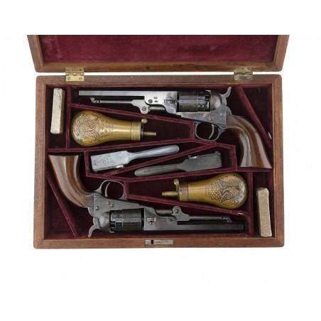 Cased Pair of Colt London Pocket Model of Navy Caliber (AC128)