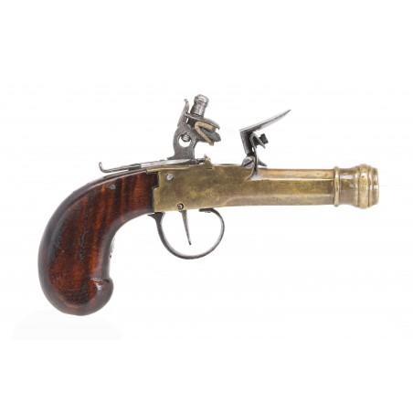 Cannon Barrel Flintlock Muff Pistol (AH6244)