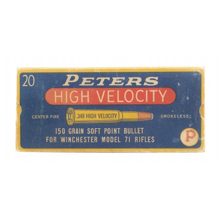 Peters .348 High Velocity 150 Grain Vintage Ammunition (AM34)