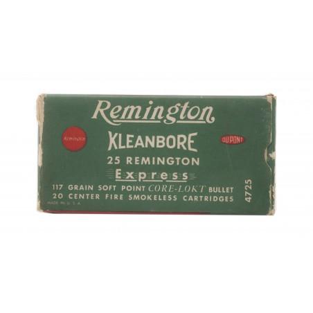Remington Kleanbore .25 Remington 117 Grain Vintage Ammunition (AM39)