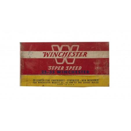 Winchester Super Speed .25-35 Winchester 117 Grain Vintage Ammunition (AM25)