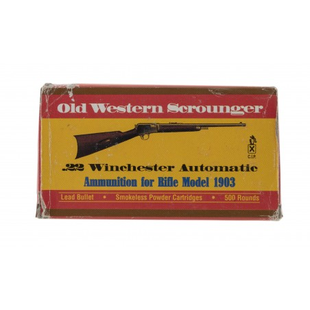 Old Western Scrounger .22 Winchester Automatic 45 Grain Vintage Ammunition (AM26)