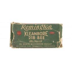 Remington Kleanbore .218...