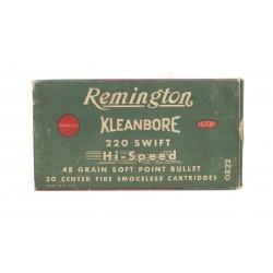 Remington Kleanbore .220...