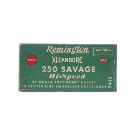 Remington Kleanbore .250 Savage 87 Grain Vintage Ammunition (AM48)