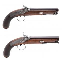 Pair Of Officer's Pistols...