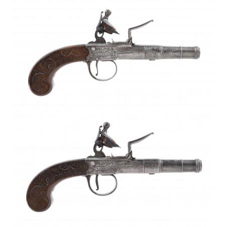 Pair of Flintlock Pistols By Barbar (AH6341)