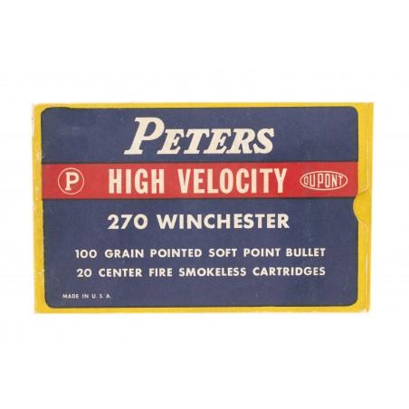 Peters High Velocity .270 Winchester 100 Grain Vintage Ammunition (AM60)