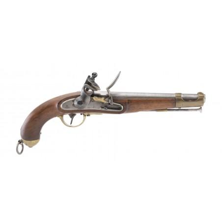 Austrian Model 1851 Tube Lock Pistol Altered to Flintlock (AH6480)