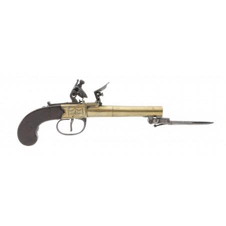 English Spring Bayonet Flintlock Pistol (AH6309)