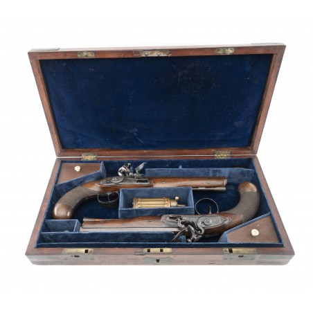 Cased Pair of Officer's Pistols by Henshall (AH6377)