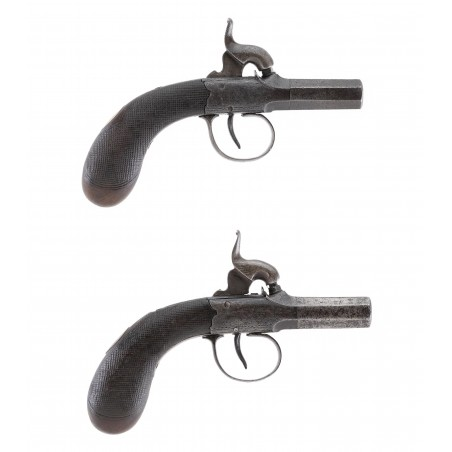 Pair of Durs Egg Percussion Muff Pistols (AH6350)