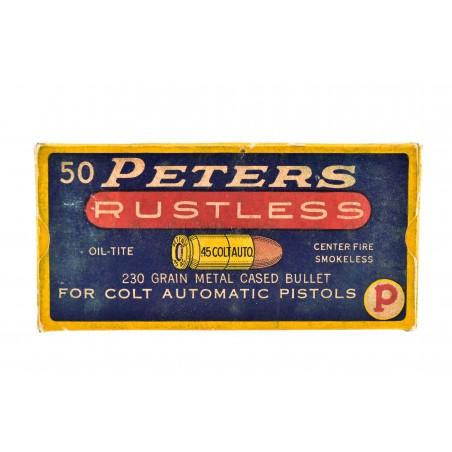 Peters Rustless .45 Colt Auto 230 Grain Vintage Ammunition (AM86)
