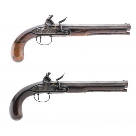 Pair of Wogdon & Barton Flintlock Dueling Pistols (AH6322)