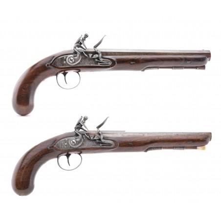 Pair of Bird & Ashmore Flintlock Dueling Pistols (AH6351)