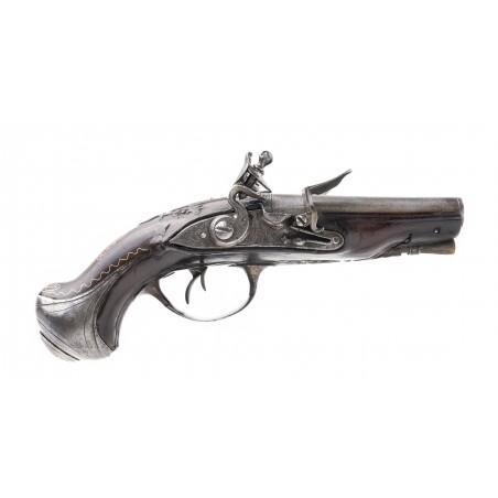 Beautiful Double Barrel French Flintlock Pistol (AH6092)