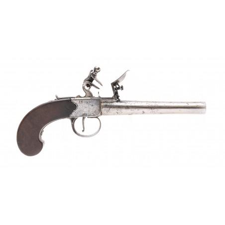 Flintlock Single Shot Pistol By Blair & Lea (AH6367)