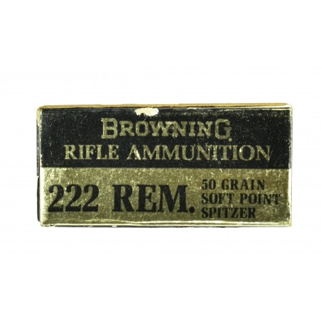 Vintage Browning .222 Remington Caliber Ammunition (AM104)