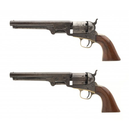 Pair of Inscribed Colt 1851 Navy Revolvers Belonging to Captain W. P. Tucker (AC268)