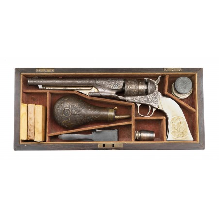 Exceptional Cased New York Engraved Colt 1860 Army (AC217)