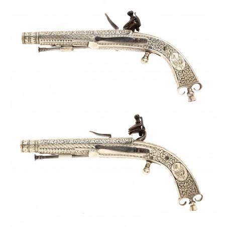 Very Fine Pair of Engraved Scottish Dress Pistols (AH6651)