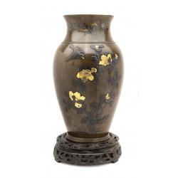 Large Japanese Bronze Vase...