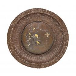 Japanese Woven Bronze Tray...