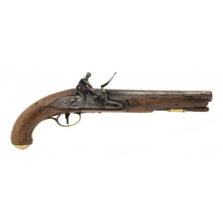 """War of 1812 Canadian Militia or Also known as """"Indian Contract Dragoon Pistol by Ketland (AH6646)"""