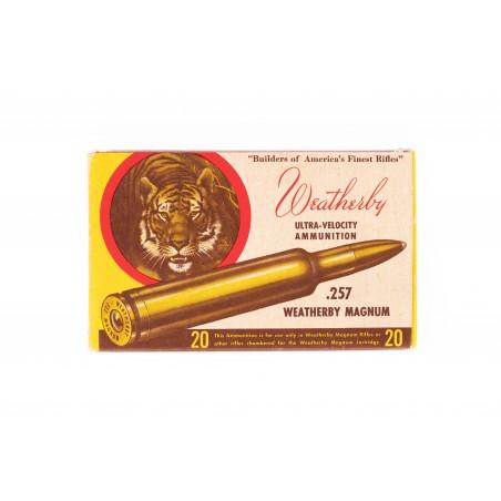 Vintage Weatherby .257 Weatherby Magnum Ammunition (AM119)